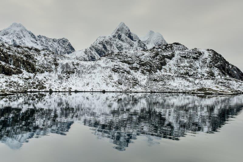 Maervoll, острова Vestvagoy - Lofoten, Норвегия стоковые изображения