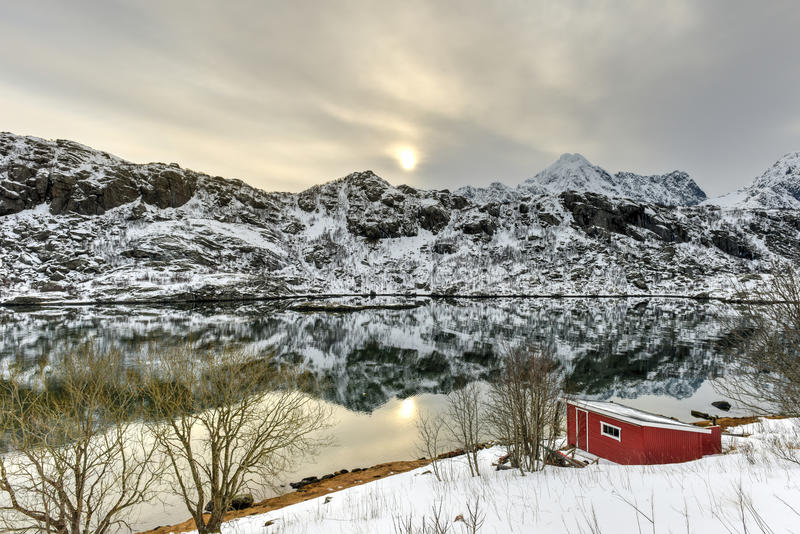 Maervoll, острова Vestvagoy - Lofoten, Норвегия стоковое фото rf