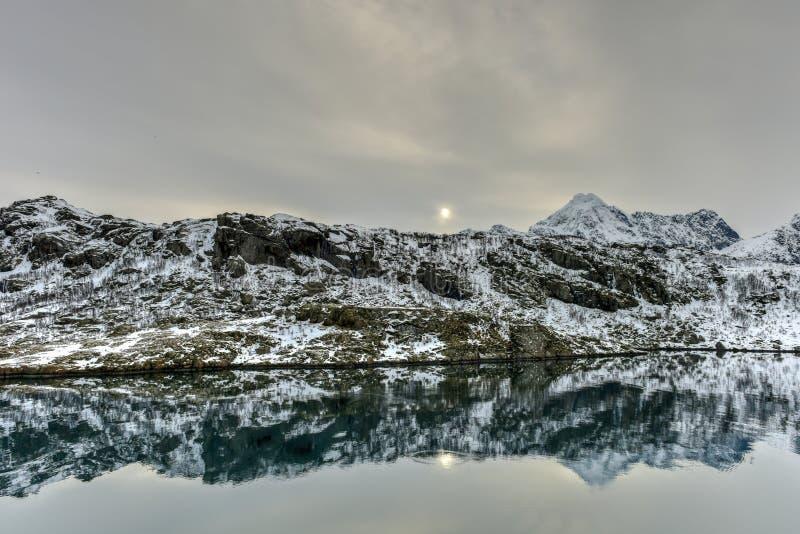 Maervoll, острова Vestvagoy - Lofoten, Норвегия стоковые фотографии rf