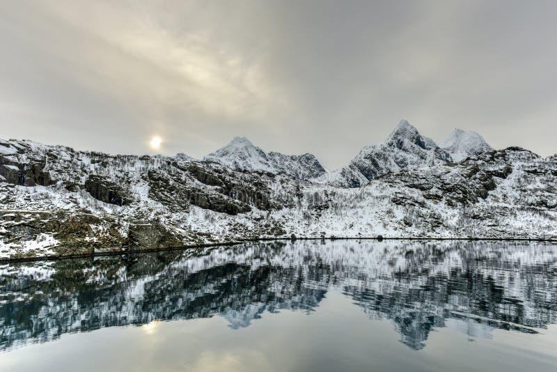 Maervoll, острова Vestvagoy - Lofoten, Норвегия стоковые фото