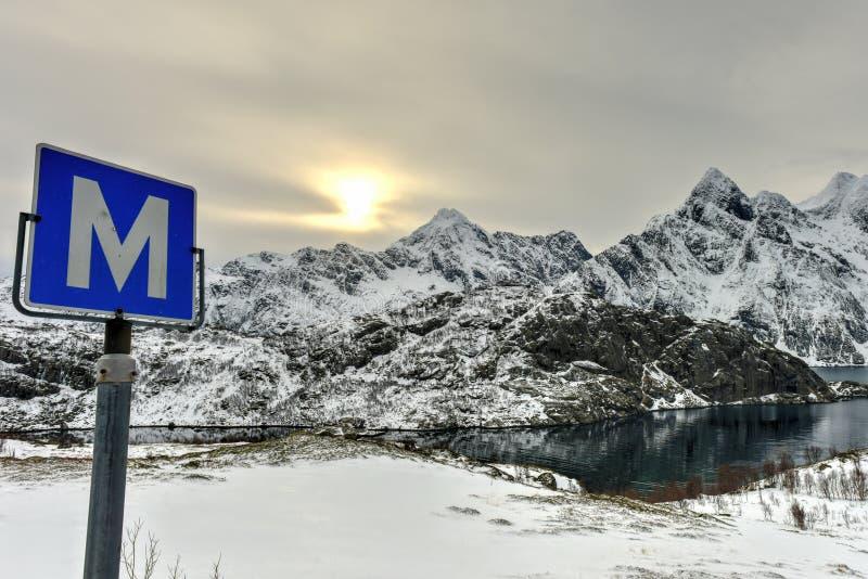 Maervoll, isole di Lofoten - di Vestvagoy, Norvegia fotografia stock