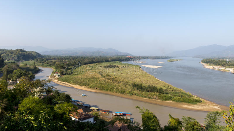 Maesai, ChiangRai (тайское основание) Таиланд 2016 границы Мьянмы стоковые фото