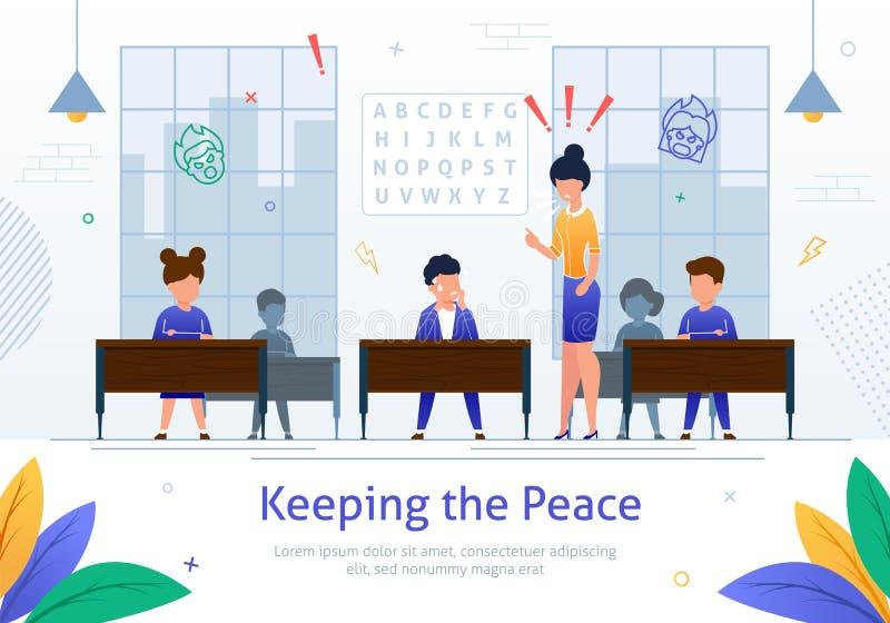 Maestra enojada estricta Scolding en muchacho del alumno libre illustration
