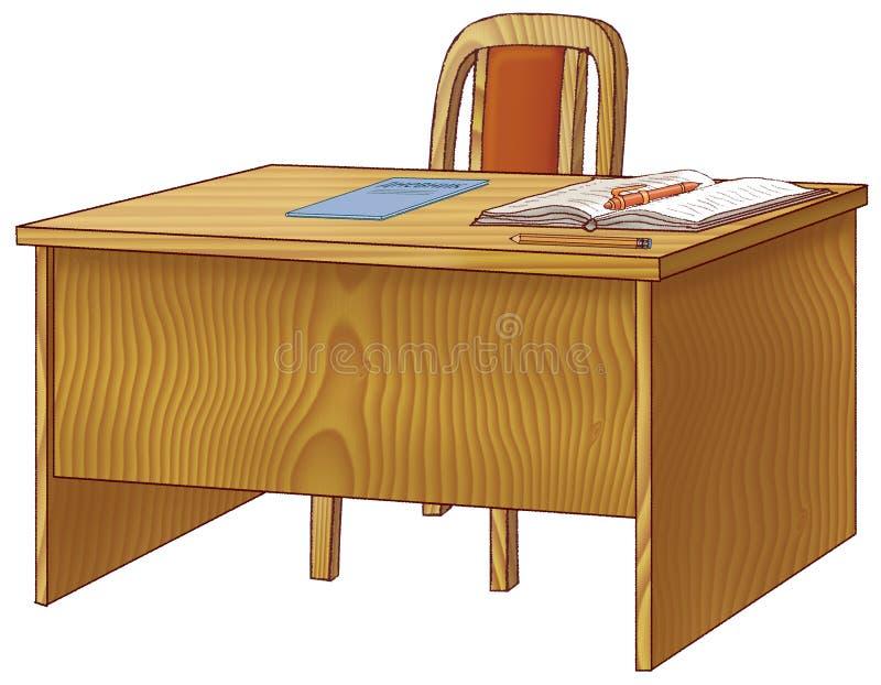 Maestri di scuola della Tabella illustrazione vettoriale