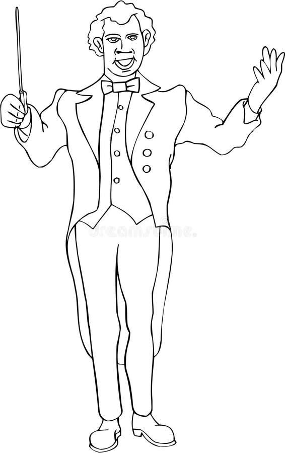 maestro royaltyfri illustrationer