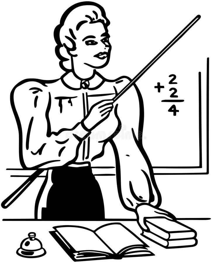 maestro di scuola illustrazione vettoriale