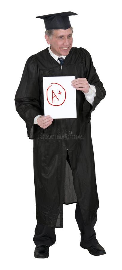 Maestro di scuola o il professor dell'istituto universitario, buoni voti fotografia stock