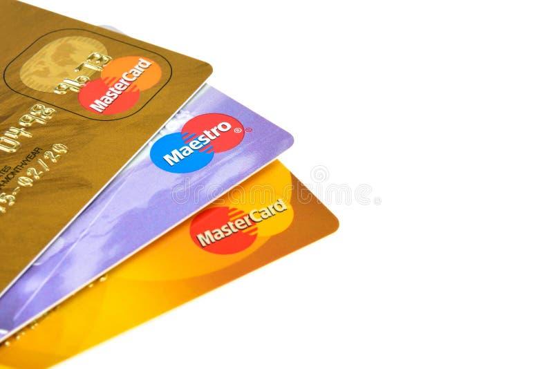 Maestro and MasterCard stock image