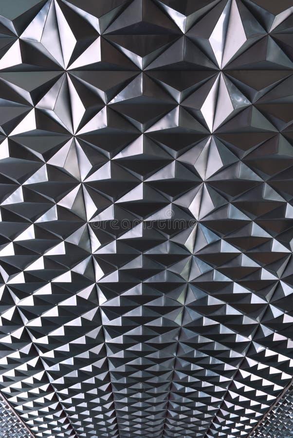 Maetal y textura de la geometría fotografía de archivo libre de regalías