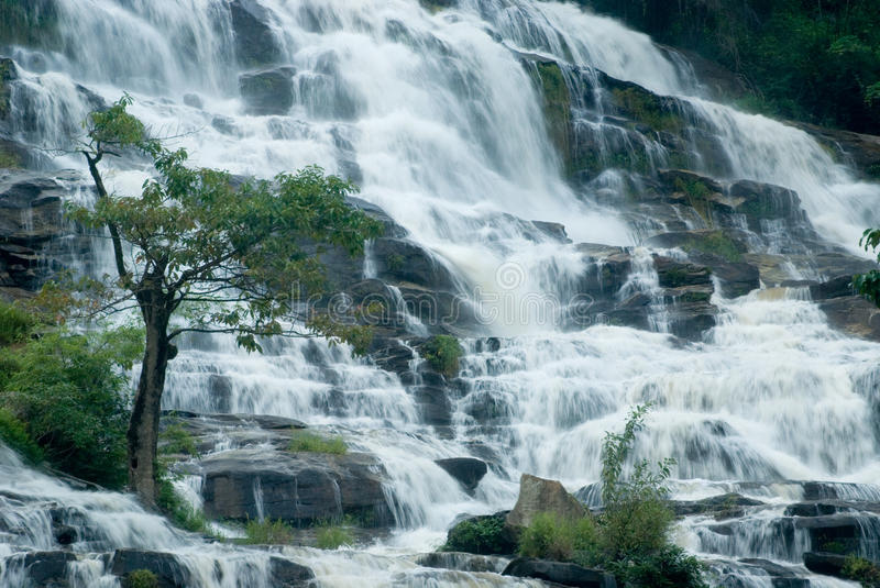 MaeYa waterfall is the biggest in Thailand.. stock photo