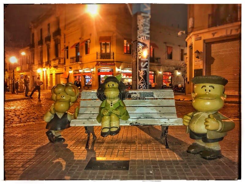 Mafalda i przyjaciół statuy obrazy royalty free