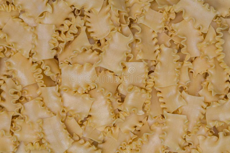 Mafaldine makaron jako tekstury tło zdjęcie royalty free