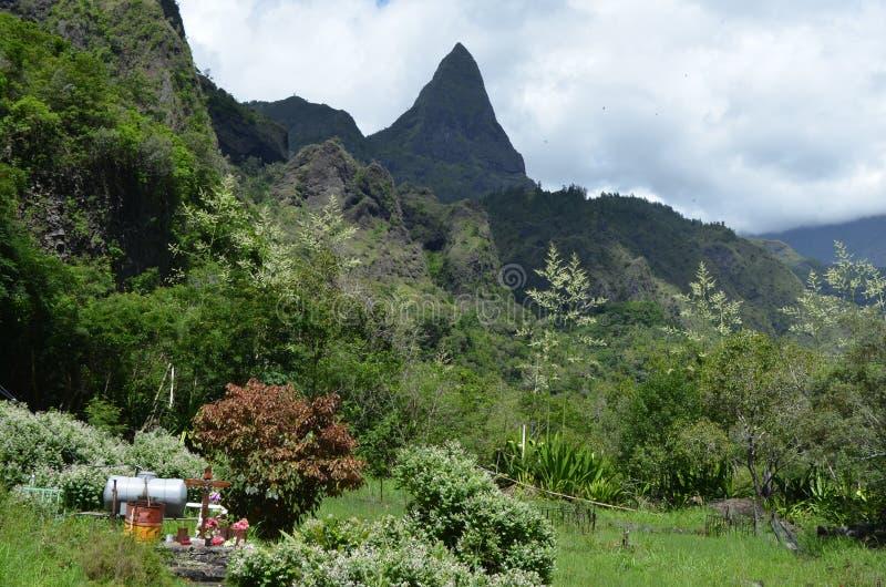 Mafate vulkanische caldera in het Eiland Réunion royalty-vrije stock foto's