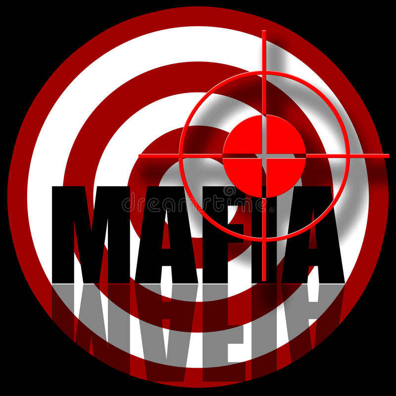 Mafia illustration stock