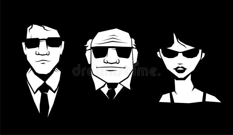Download Mafia stock vector. Illustration of vector, retro, black - 6783168