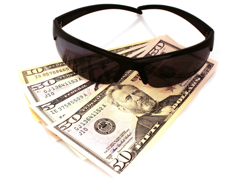 Mafia. Photo of glasses on money stock images