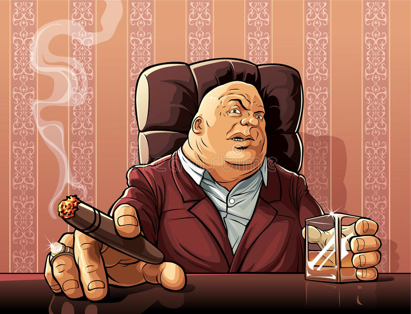 Mafia boss royalty free illustration