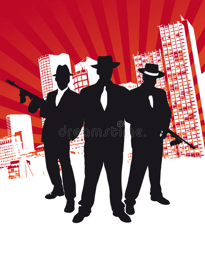 Mafia Gang stock photos