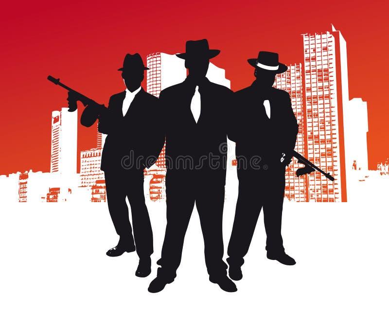 Mafia Gang. 3 manmafia gang vector illustration royalty free illustration