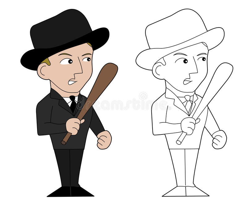 Download Mafia guy cartoon stock illustration. Image of coloring - 23621184