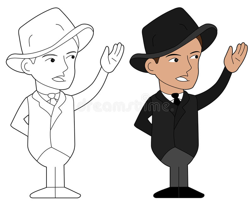 Download Mafia guy cartoon stock vector. Image of organized, contour - 23768403