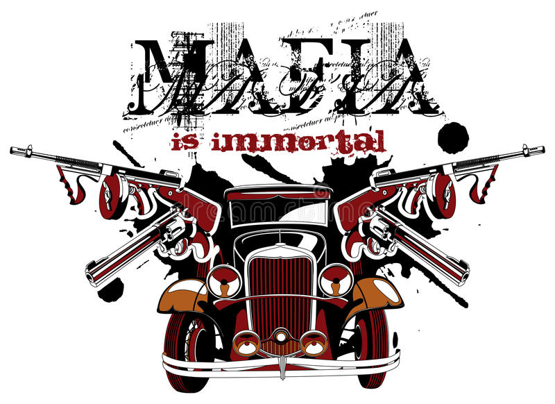 Mafia ist unsterblich lizenzfreie abbildung