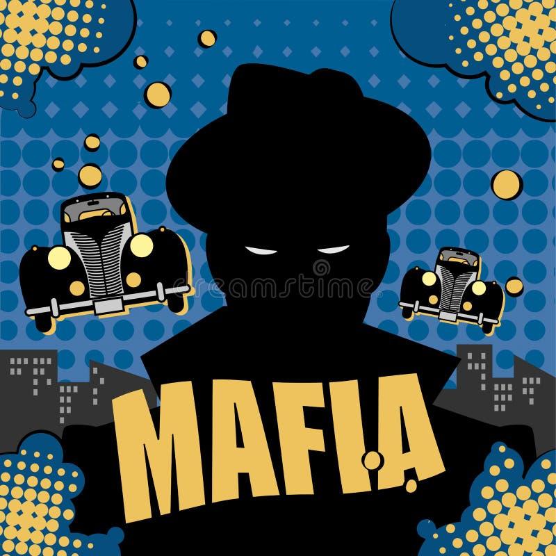 Mafia- oder Gangsterhintergrund lizenzfreie abbildung
