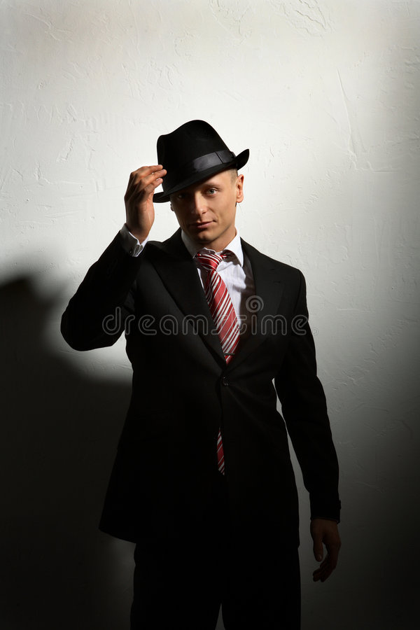 Download Mafia's man stock photo. Image of people, black, mystery - 2532684