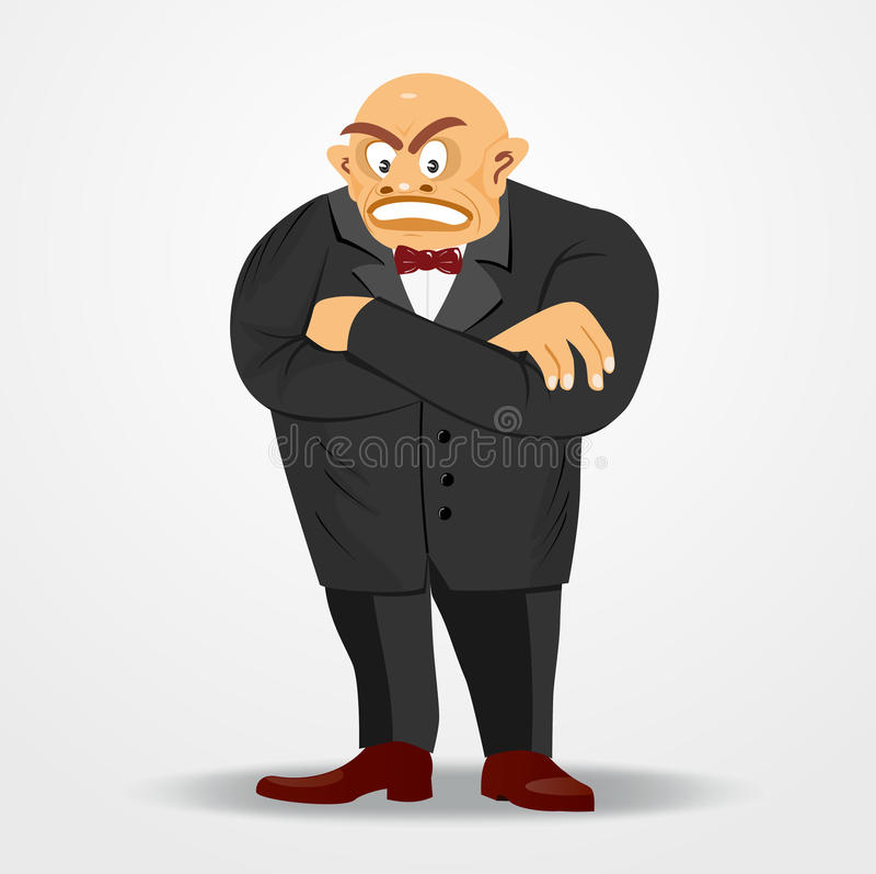 Mafiachef mit den Armen gekreuzt vektor abbildung