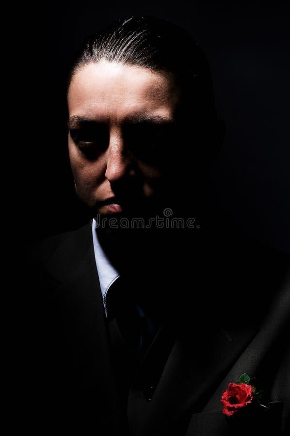 Mafioso da mulher fotografia de stock royalty free