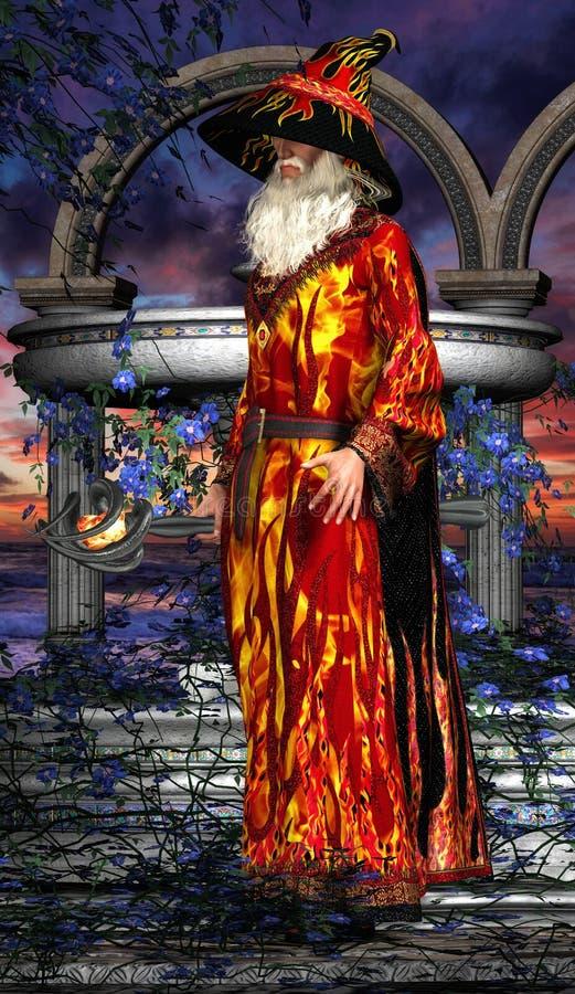 Mag met magische stok 03 royalty-vrije illustratie