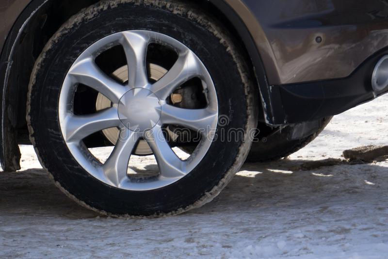 Mag wheel car wheels white accessories concept, royalty free stock photo