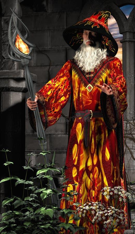 Mag z magicznym kijem 02 fotografia royalty free