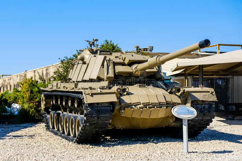 Magach israeli tank. Israeli Armored Corps Museum at Latrun royalty free stock images