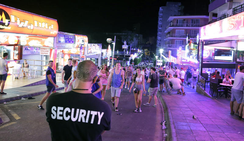 Magaluf private security guard stock photos