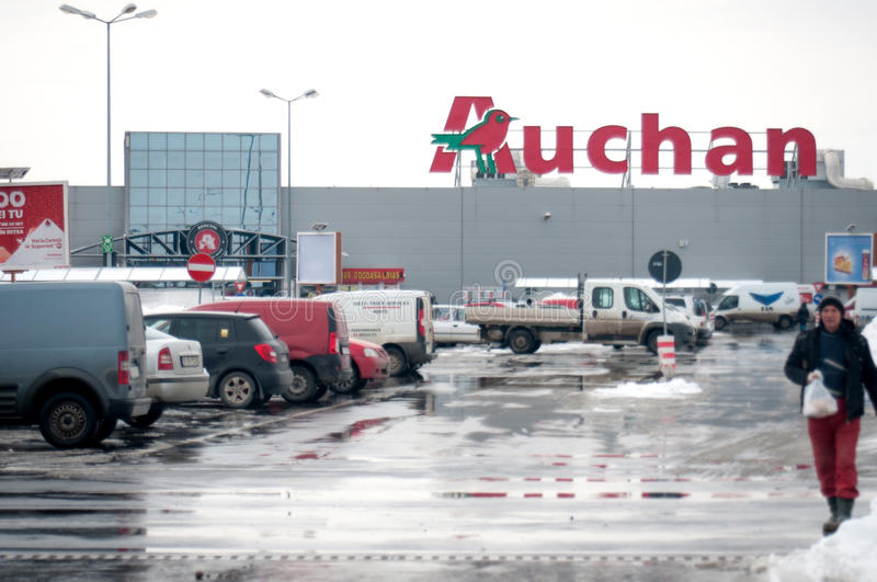Magasin d'Auchan photo stock