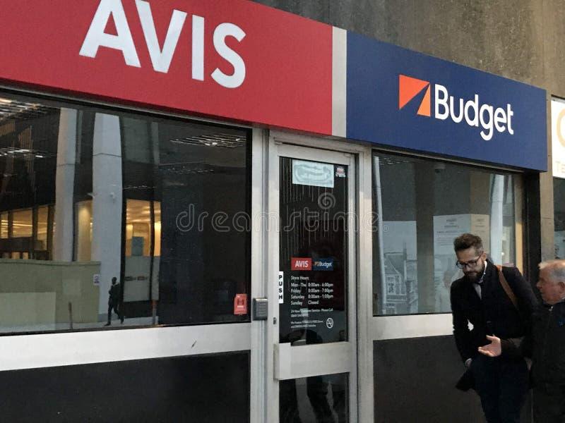 Magasin d'Avis Budget, Londres photos libres de droits