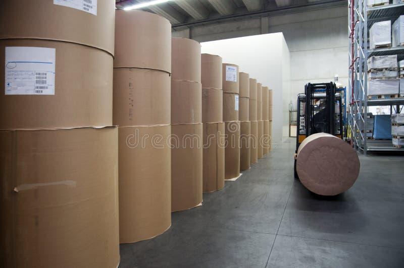 Magasin d'estampes : entrepôt de papier photo stock