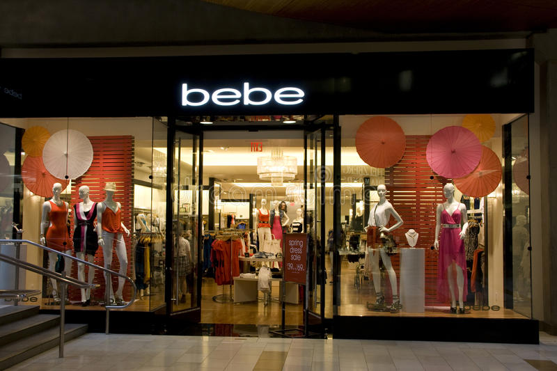Magasin d'habillement de Bebe photo libre de droits