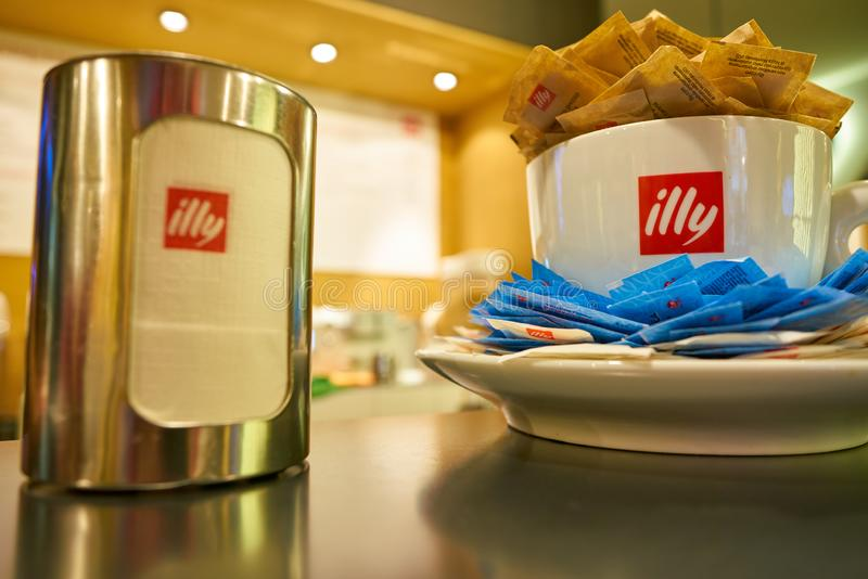 Magasin d'Illy photographie stock