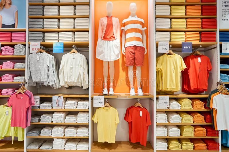 Magasin d'Uniqlo photo stock