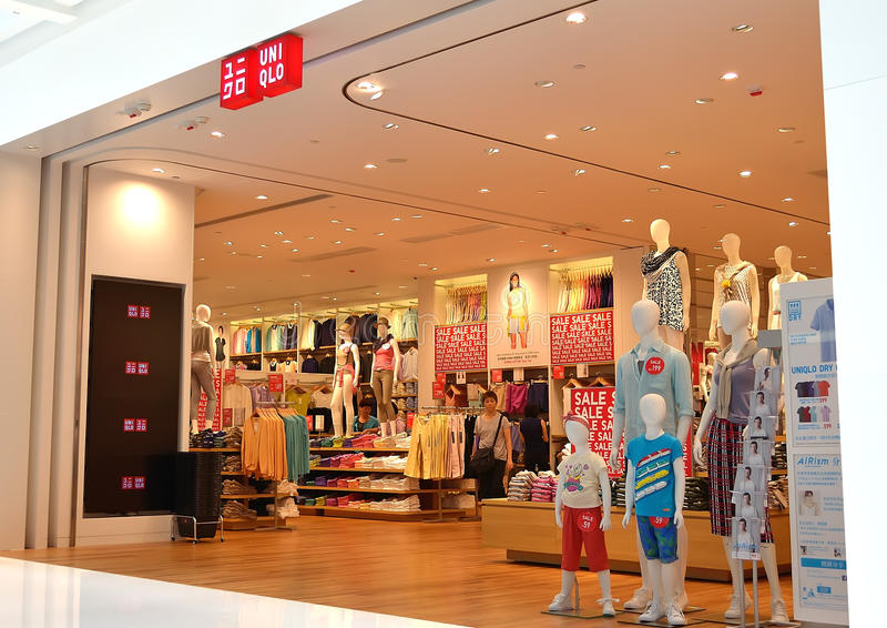 Magasin d'Uniqlo photos libres de droits