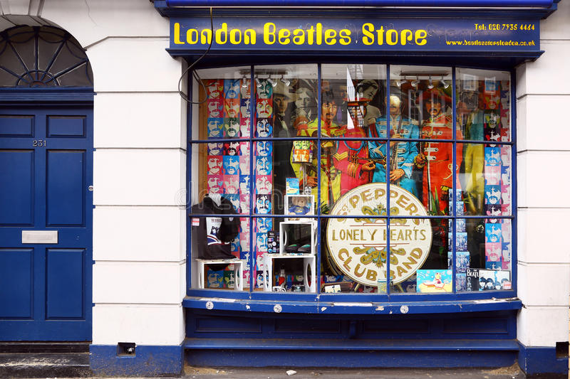 Magasin de Beatles à Londres photo stock