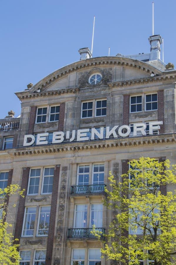 Magasin De Bijenkorf At Amsterdam les Pays-Bas images libres de droits