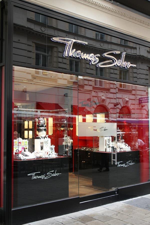 Magasin de bijoux à Vienne images libres de droits