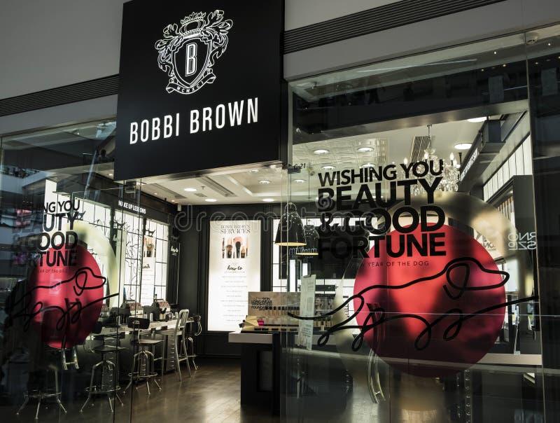Magasin de Bobbi Brown en Hong Kong Bobbi Brown Cosmetics a été fondé par Bobbi Brown en 1991 images stock