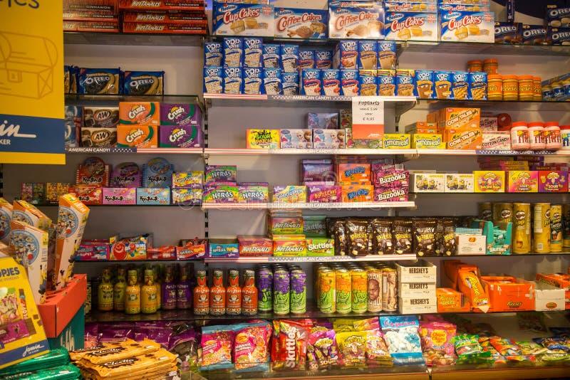 Magasin de bonbons photos libres de droits