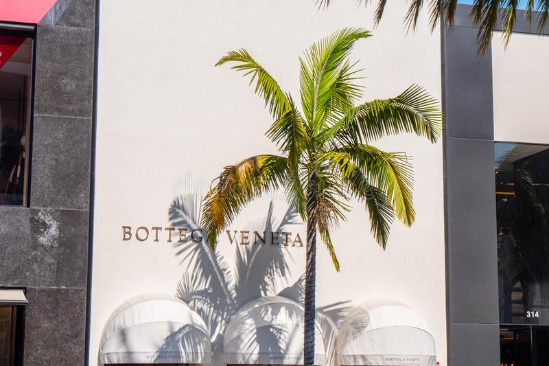 Magasin de Botega Veneta chez Rodeo Drive en Beverly Hills - CALIFORNIE, Etats-Unis - 18 MARS 2019 images stock