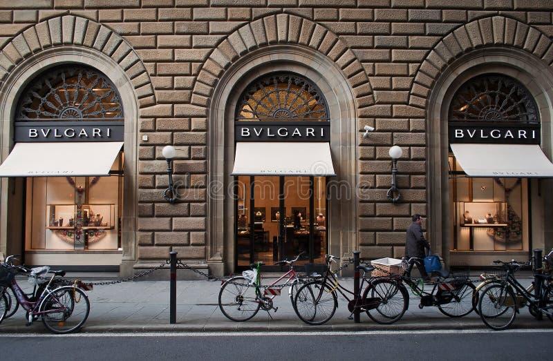 Magasin de Bulgari à Florence photographie stock libre de droits