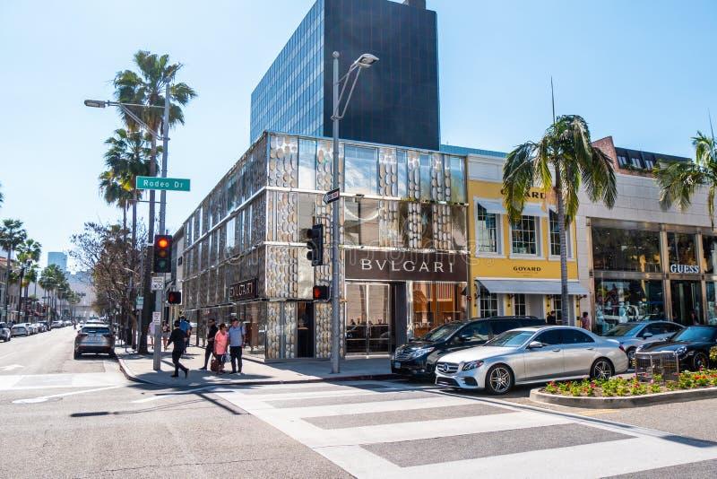 Magasin de Bulgari chez Rodeo Drive en Beverly Hills - CALIFORNIE, Etats-Unis - 18 MARS 2019 photographie stock